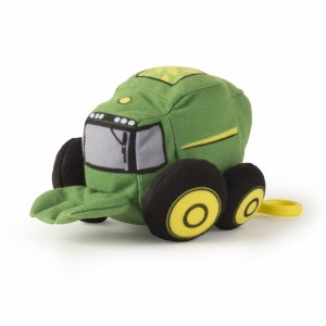 10cm Plush JD Vehicles Clip-On Combine