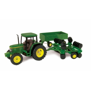 1/32 JD Tractor w/barge Wagon and Disk