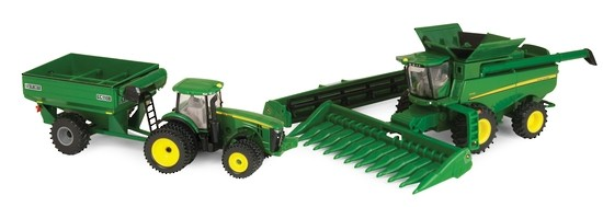 1/64 Harvesting Set (S670 w/8R & Cart)