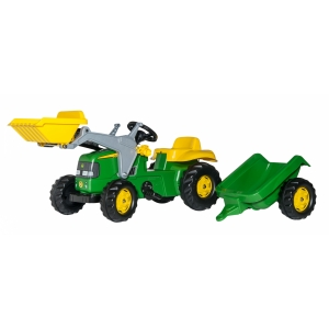 Classic Tractor w/Loader and Trailer