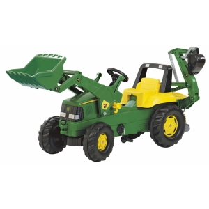 Tractor with Loader and Excavator