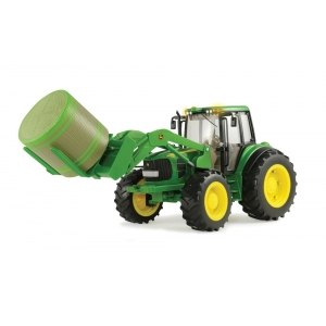 1:16 Big Farm 7330 w/ Front Bale Mover & Bale