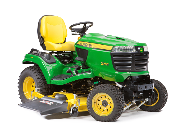 John Deere X758 Ride On Mower