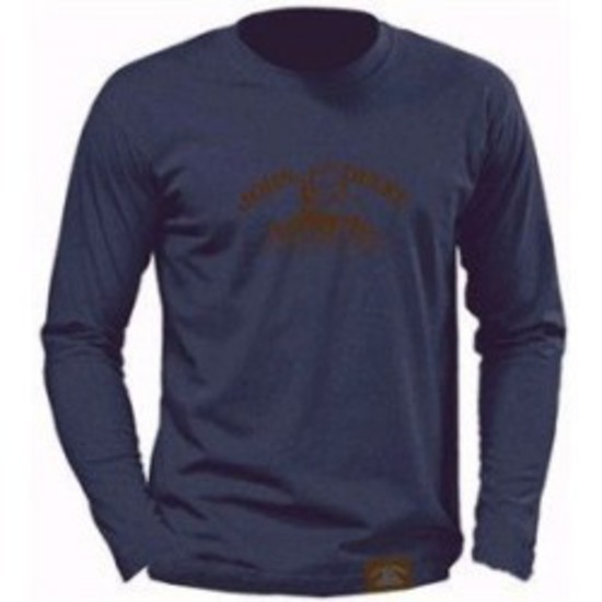 Blue L/S Tee -  Brown Heritage Logo