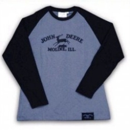 Raglan L/S Tee Grey/Black